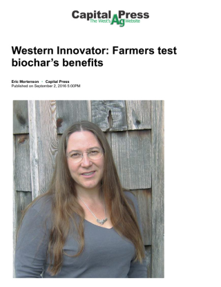 Western Innovator- Farmers test biochar's benefits - - Capital Press copy-1