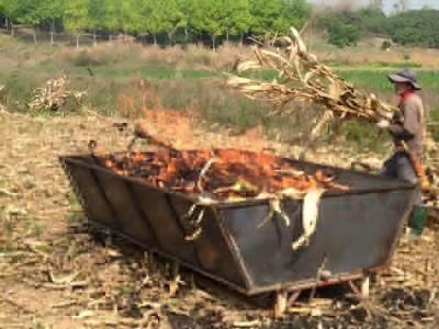 3-Original-T2k-on-sled-cornstock-feedstock-burn